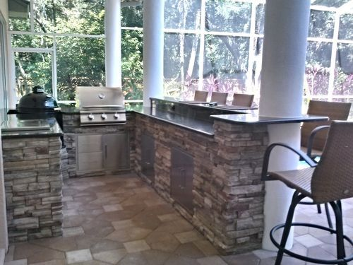 Before After Outdoor Kitchen Water Feature Renewal Outdoor Kitchen Outdoor Living Design Outdoor Kitchen Ideas Awesome