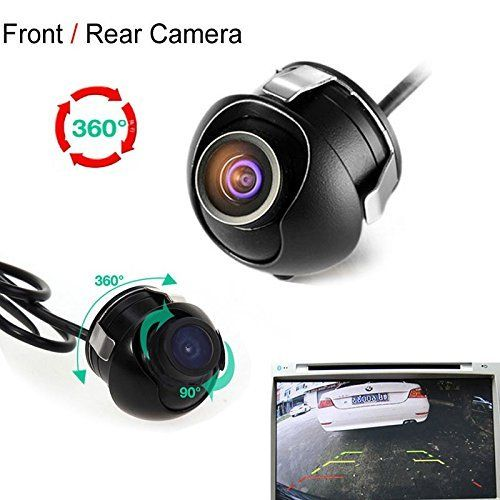 #marineelectronics CAIRUTE® Universal Mini CCD High Definition Night Vision 360 Degree Car Rear Front Side View Backup Camera With Mirror…