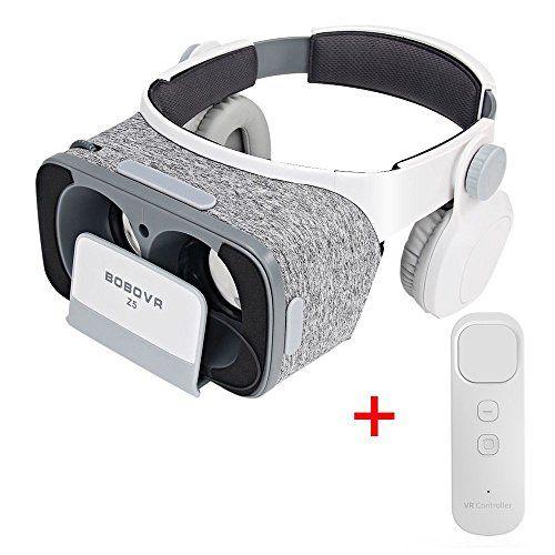 Virtoba BOBOVR Z5 3D VR gafas Realidad Virtual con Auriculares Headset Gafas para Ver 3D Películas / Juegos Compatible Daydream Gamepad FOV120 IPD Focus Adjustable