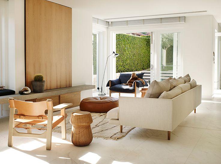Borge Mogensen Spanish Chair Great Dane Furniture, Wilfred Easy Chair by Jardan. Amber Road Interior Architecture Studio. Photo Prue Ruscoe.