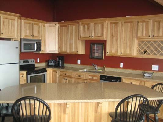 Kitchen design hickory cabinets hickory kitchen cabinets Kitchen colors with natural wood cabinets