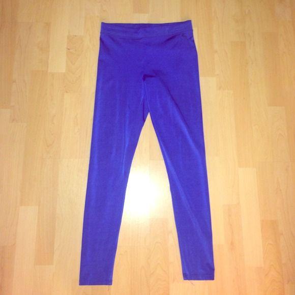 Victoria's Secret Royal Blue Leggings 💙 Shiny PINK Victoria's Secret Pants Leggings