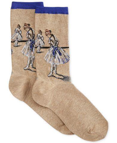 Hot Sox Women's Degas Ballerina Sock - Macy's. Artists and dancers everywhere can appreciate the beauty and style of the Degas Ballerina Socks from Hot Sox.