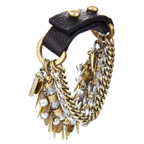 If Talitha Getty and Marrakech had a love-child, this bracelet would be it. Mixed metal multi-chain bracelet by Jenny Bird.