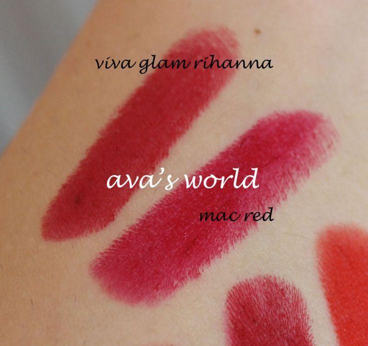 mac red viva glam rihanna