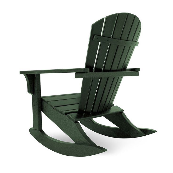Seashell Adirondack Rocking Chair | Polywood | Recycled Plastic Outdoor  Rockers