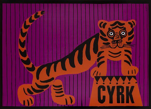 Wiktor Górka, Cyrk - tygrys, Size: B1