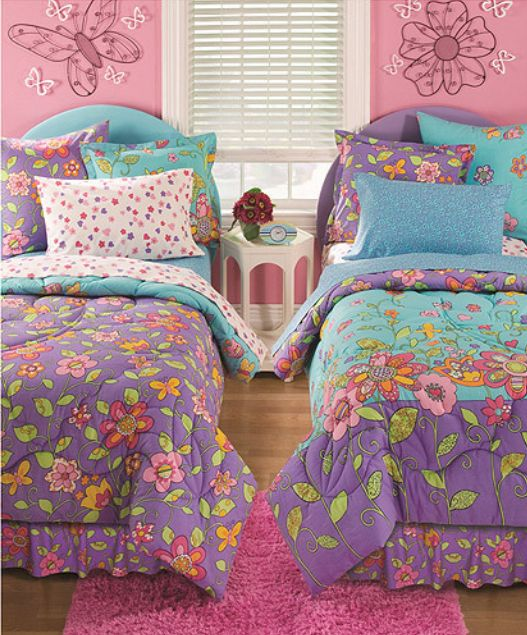 Shared Bedrooms For Girls Big Bedrooms For Girls Blue Big Boy Bedroom Ideas Zebra Bedroom Furniture: Little Girl •~• Blue, Green, Orange, Pink, Purple