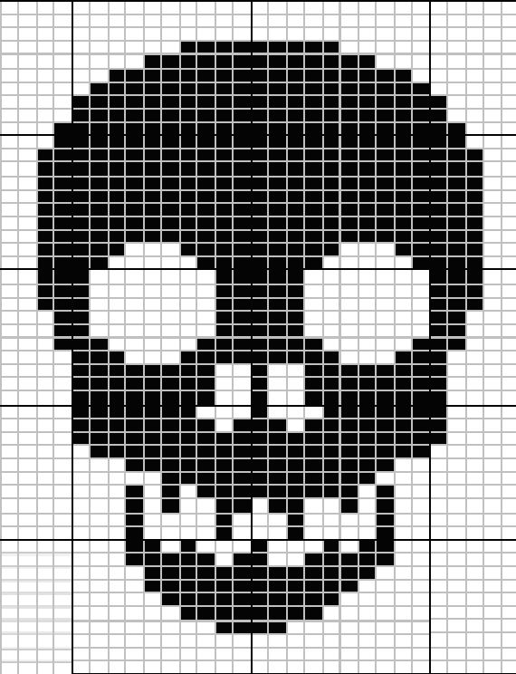 skull knit pattern -will have to try this as a crochted scarf pattern where were…
