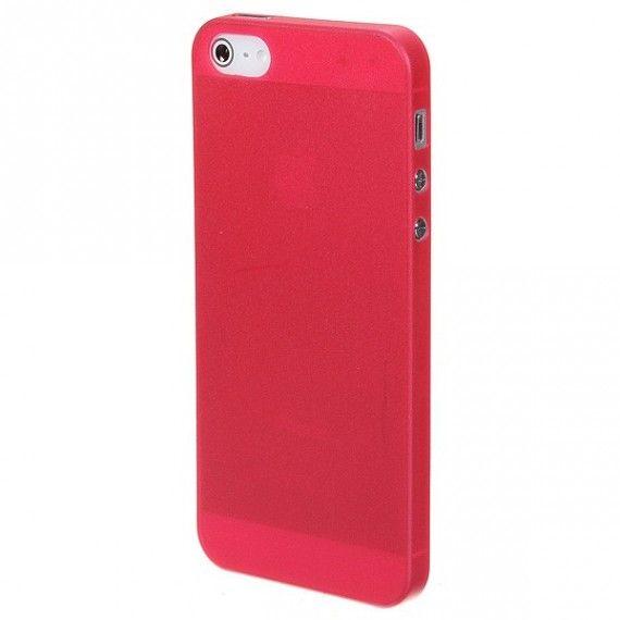 IPhone 5 / 5s ultra tynn deksel Rød kun 39kr