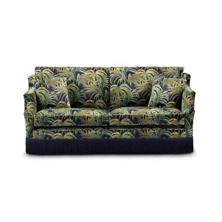 PALMERAL 'Navarino' Sofa - Midnight / Green