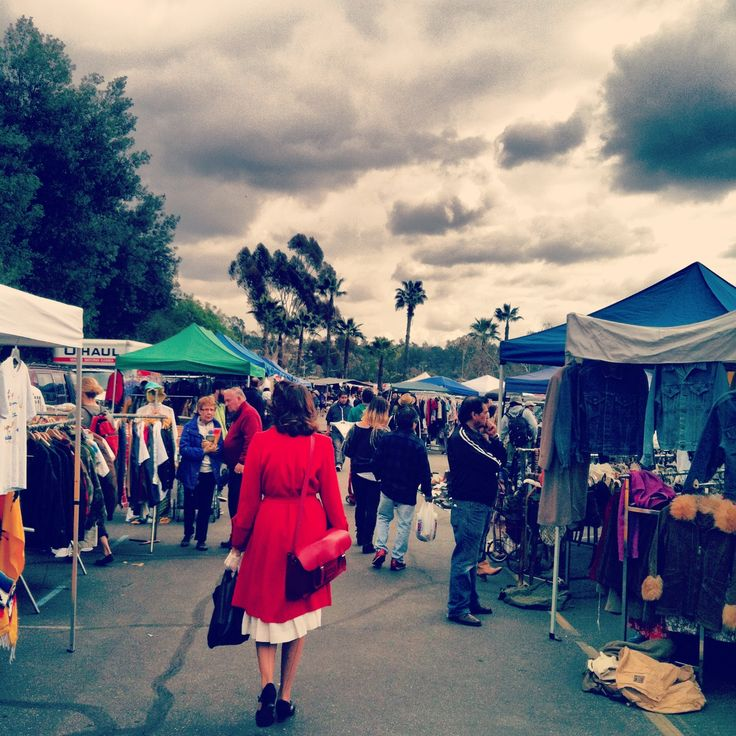 $10- after 8AM, Rose Bowl Swap Meet, Pasadena. This thing is massive. Its fun to just browse and look around. If you're looking to do some vintage shopping, its worth the $10 admission.