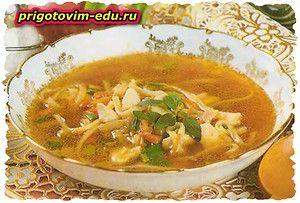 Суп-лапша с куриной грудкой
