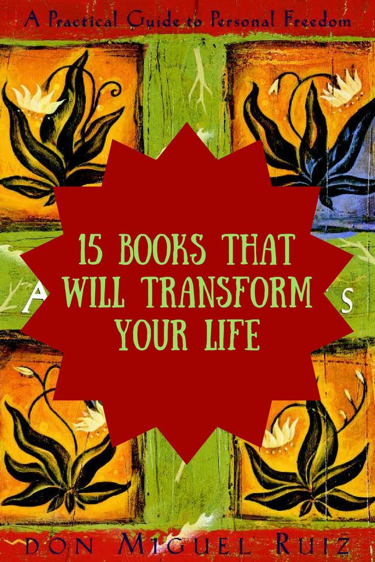 15 Books That Will Transform Your Life #books #reading #fouragreements #book #bookclub #read