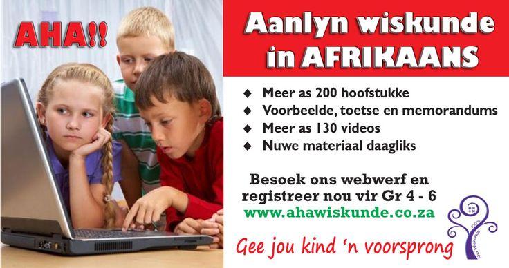 Wiskunde verduidelikings in Afrikaans