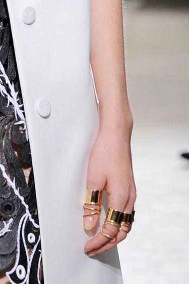Golden Rings Balenciaga Spring 2013