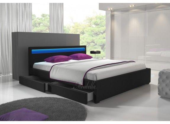 Door het strakke design van bed Alexander is dit model voor bijna elke slaapkamer geschikt. In het hoofdbord zit LED-verlichting verwerkt. In de zijkanten bevinden zich twee opberglades. Deze zijn te gebruiken door deze in- en uit te schuiven. Handig voor het opbergen van kussens, beddengoed of speelgoed. Afmeting 140x200.  https://www.meubella.nl/slaapkamer/bedden/tweepersoonsbedden/bed-alexander-zwart-140x200.html