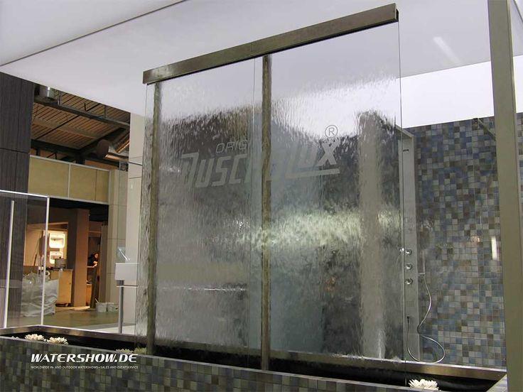 Marvelous Wasserwand Glas Modulare rahmenlose Wasserablauffl che aus Glas F r m Bauh he