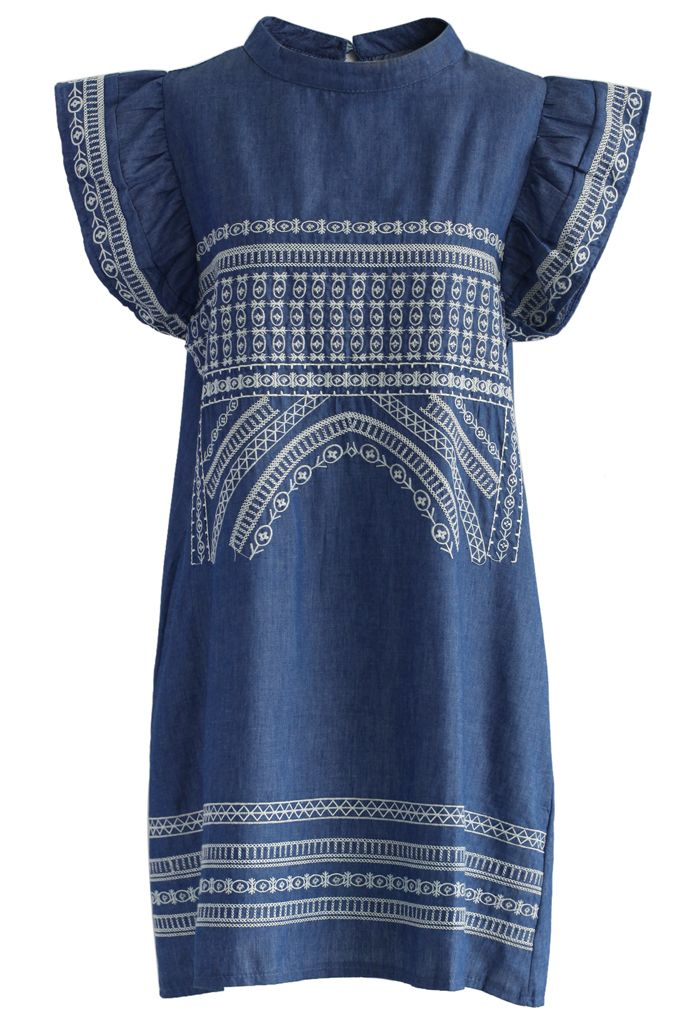 Arch of Boho Chambray Dress - New Arrivals - Retro, Indie and Unique Fashion