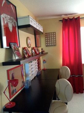 Boys Baseball Bedroom Decorating | 3,378 Teenager Boys Bedroom Contemporary  Home Design Photos