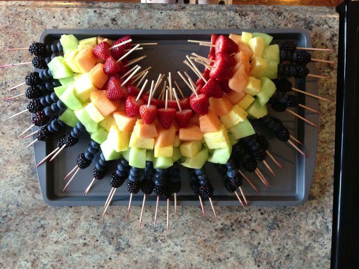Rainbow fruit platter.