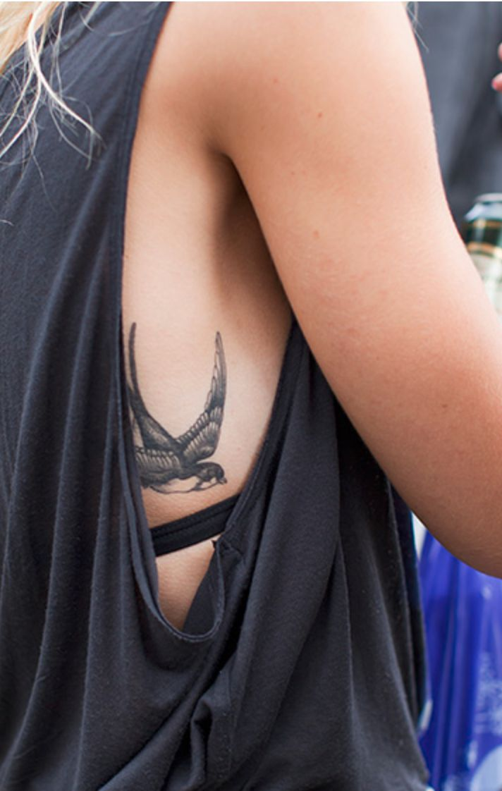 Bird tattoo. Me likely. It's a cool and different place to get it which makes…