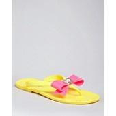 Ted Baker Logo Bow Flip Flops - Polee Flat  www.lustrelife.com