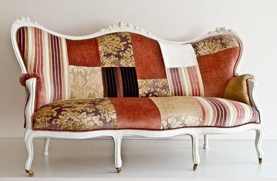 Beautiful patchwork sofa.