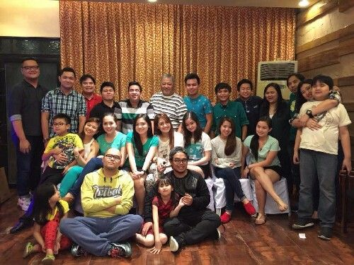 These are the alumni and the original cast of Goin' Bulilit who are now grown-up with the staff of Goin' Bulilit and Direk Edgar Mortiz smiling for the camera during the Christmas party and reunion of the original cast and alumni of Goin' Bulilit at Direk Edgar Mortiz's house in Quezon City last December 2014. Indeed, they're another of my favourite Kapamilyas, and they're amazing Star Magic talents. #SharleneSanPedro #MilesOcampo #GoinBulilit #GoinBulilitGraduates