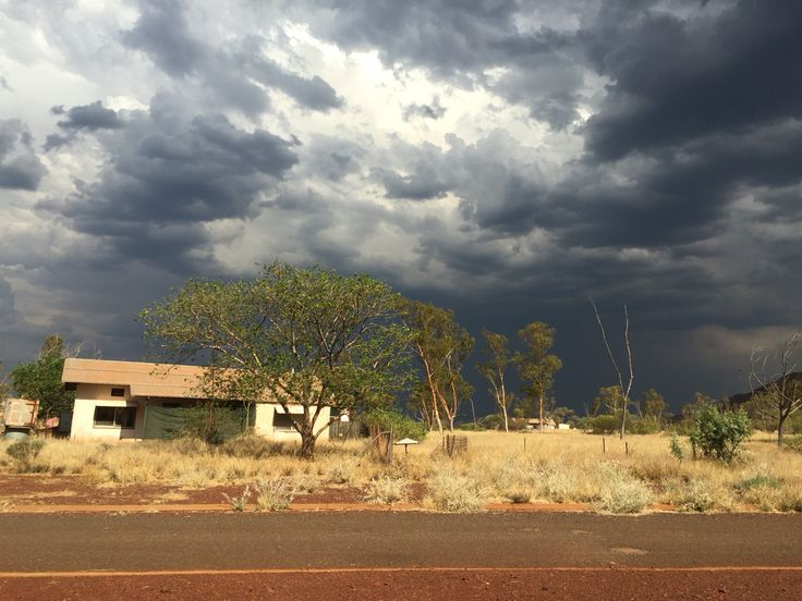 Storm clouds over Wittenoom Western Australia