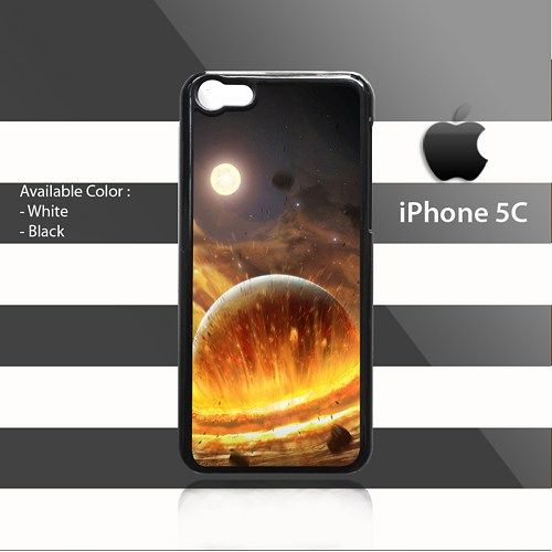 Planet Impact Wide iPhone 5c Rubber Case Cover