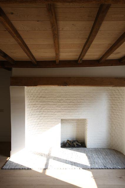 wood beams + brick