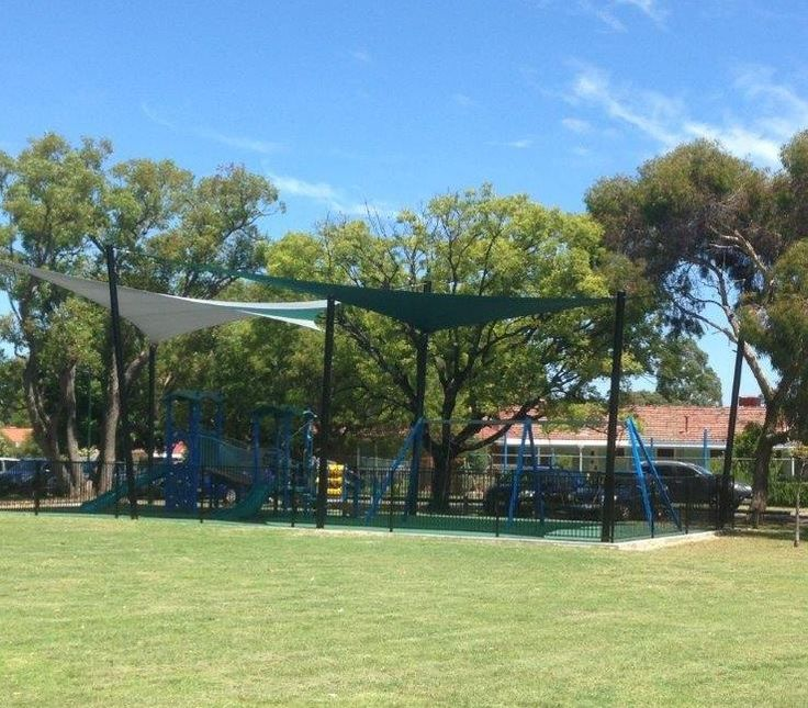 Everything you need for the perfect meetup at these fully fenced playground with coffee nearby!
