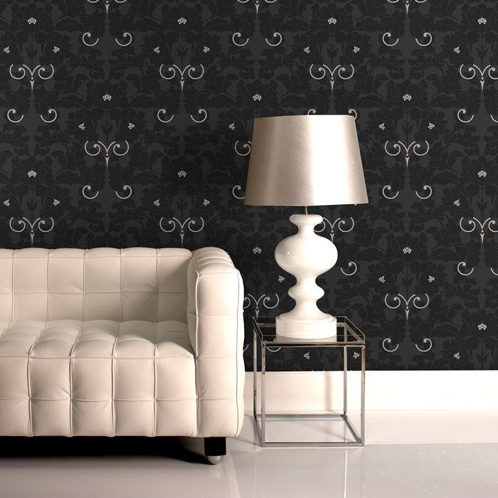 Paradise Charcoal Wallpaper by Graham and Brown & 82 best Laurence Llewelyn-Bowen images on Pinterest | Bedroom ... azcodes.com