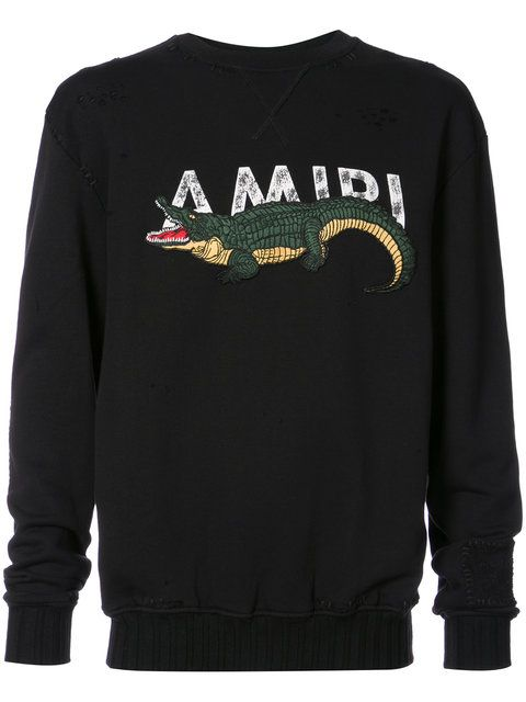 86a5cc5ba Shop Amiri embroidered crocodile sweatshirt . | House of Aces ...