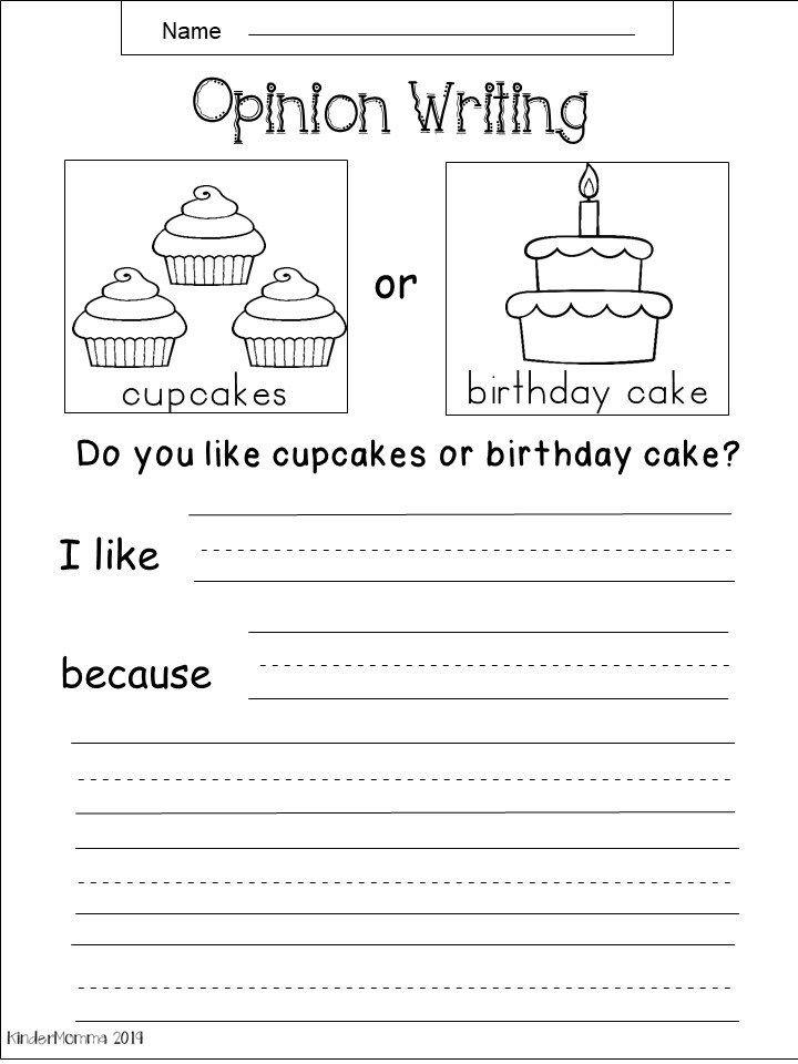 Free Kindergarten Writing Worksheets Kindermomma Com In 2020 Opinion Writing Kindergarten Kindergarten Writing Prompts Kindergarten Writing