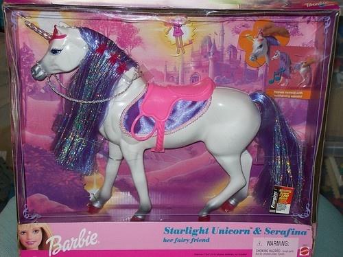 barbie starlight unicorn and serafina her fairy friend. Black Bedroom Furniture Sets. Home Design Ideas