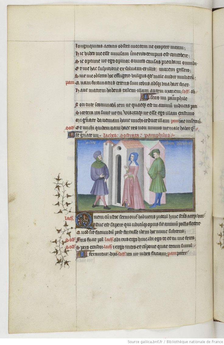 Fol 111v. Publius Terentius Afer, Comediae. 1400-1407. Paris, France.