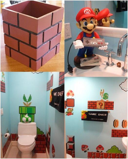 Mario themed bathroom #SuperMarioBros #Nintendo