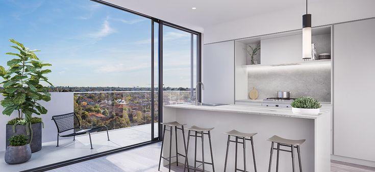 alba apartments melbourne off the plan kitchen balcony views