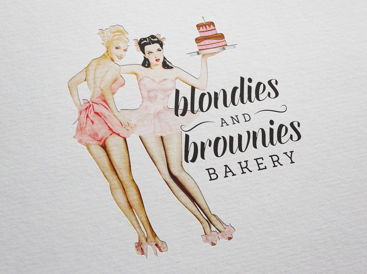 Logo design for Blondies and Brownies Bakery by Pink Pigeon Graphic Design © www.pinkpigeon.co.za