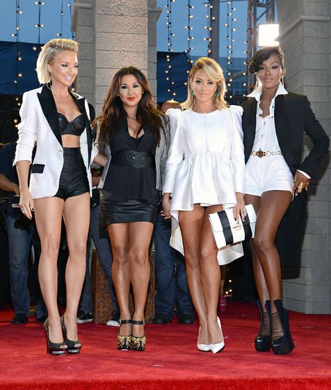 A newly reunited Danity Kane hit the red carpet at the 2013 VMAs in matching black and white outfits
