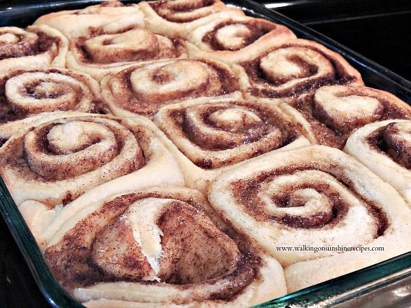 Overnight Cinnamon Rolls from Walking on Sunshine Recipes