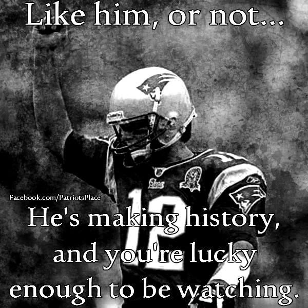 Brady's breaking records every week. If you're a fan of the game of football, this is a GREAT time to be alive! #Respect #TomBrady