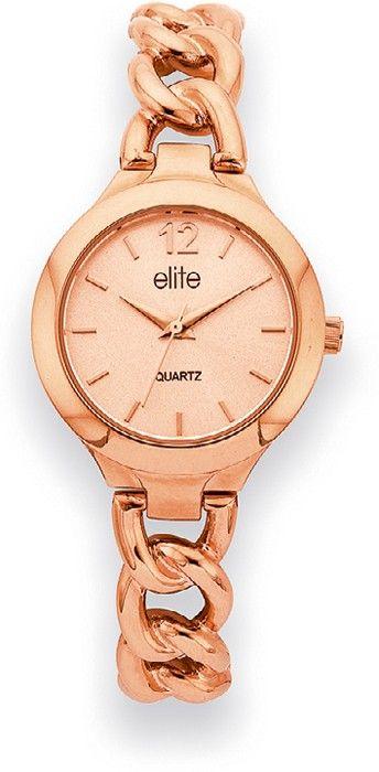 Elite+Ladies+Rose+Tone+Watch