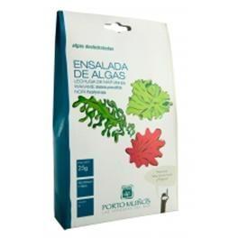 Algas deshidratadas Ensalada de algas (wakame, nori, lechuga) 25 g Algas deshidratadas Ensalada de algas, con sabor a mar. Una ensalada original.   Esta presentación de Ensalada de algas deshidratadas combina las diferentes texturas de los tipos de alga que la componen. http://www.selectosfragola.com/product/93/0/0/1/Algas-deshidratadas-Ensalada-de-algas-wakame-nori-lechuga-25-g.htm