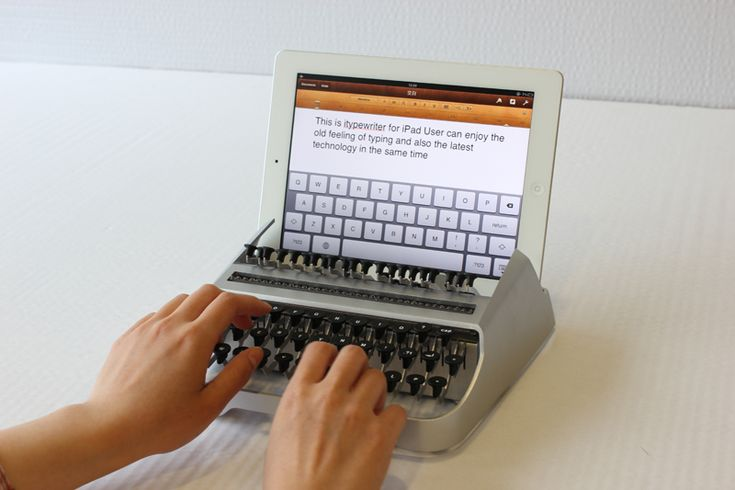Awesome! Turn your iPad into an old fashioned typewriter!