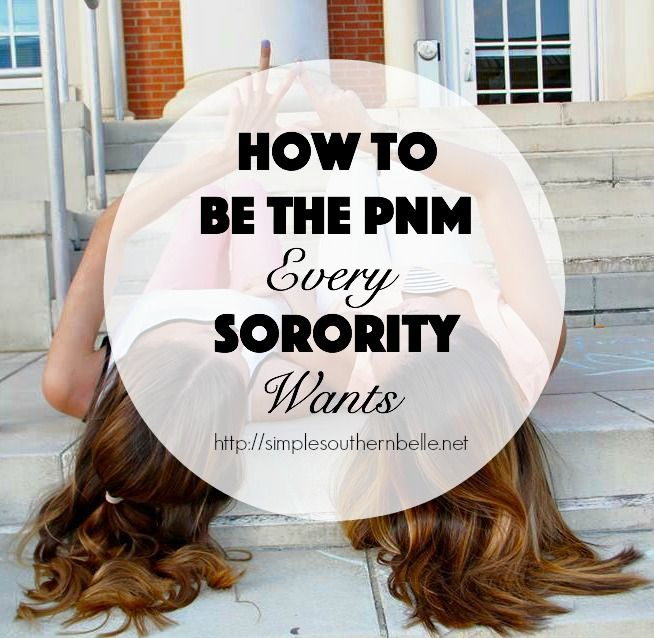 It's the week you've been waiting and preparing for for weeks or maybe even months, rush week. You're sitting in a room full of girls just like you, PNMs, new and ready to …