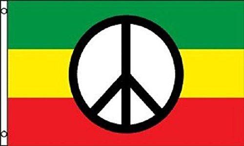 Peace Flag Hippie Banner Rasta Pennant New Indoor Outdoor 3x5 Foot