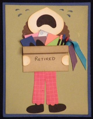 Retirement punch art card - only with a great big smile!!!